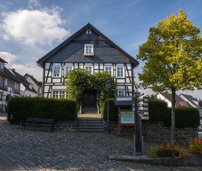 Ein Fachwerkhaus in Hallenberg