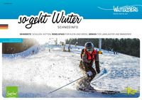 Titelseite des Prospektes Schneeinfo - So geht Winter für die Saison 2018/2019