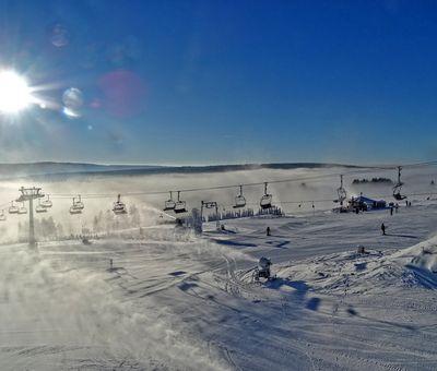 verschneite Landschaft in Neuastenberg