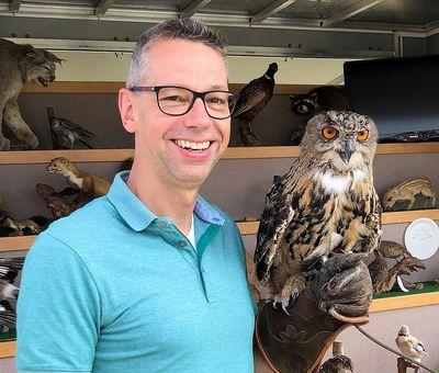 """Tourismusdirektor Michael Beckmann mit """"Cosmo"""""""