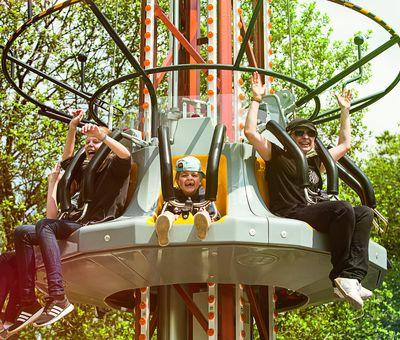 Rasant geht es abwärts mit dem Crash im Fort Fun Abenteuerland